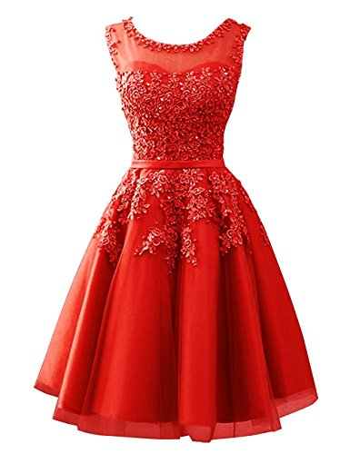 Beyonddress Damen Abendkleider mit Applikationen Elegant Ballkleid ...