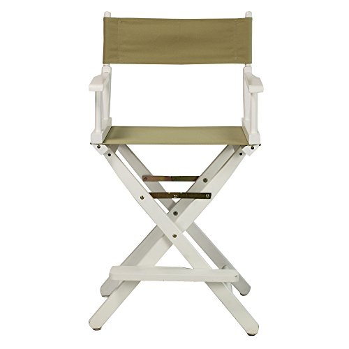 Casual-Home-24-Inch-Director-Chair-White-Frame-Tan-Canvas