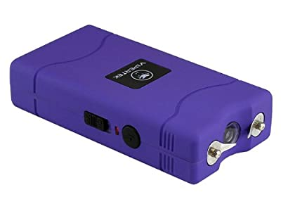 VIPERTEK VTS-880 - 35,000,000 V Mini Stun Gun - Rechargeable with LED Flashlight, Purple