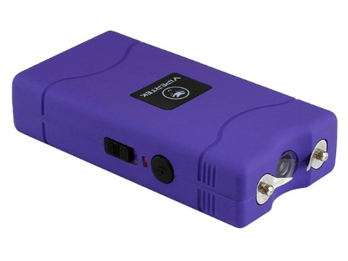 VIPERTEK VTS-880 - 5 Billion Mini Stun Gun - Rechargeable with LED Flashlight, Purple
