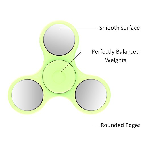 TNSO fidget toys,spinner fidget toys The Anti-Anxiety 360 Spinner Helps Focusing Toys [3D Figit] Premium Quality EDC Focus Toy for Kids & Adults – Stress Reducer Relieves ADHD Anxiety With LED lights