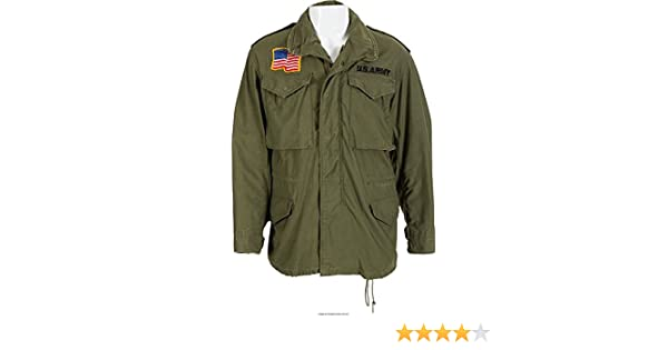 Mens USA Commando Military US Army Green Cotton Jacket | Mens Cotton Jackets at Amazon Mens Clothing store: