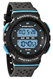 SPORTECH Unisex | Black & Blue Digital Water-Resistant Sports Watch | SP12704