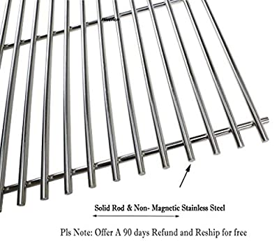 Hisencn BBQ Replacement Stainless Steel Cooking Grid Grates Parts for Great Outdoors,Charbroil 463250509, 463250510, Thermos 461262409, Vermont Castings Grills Models