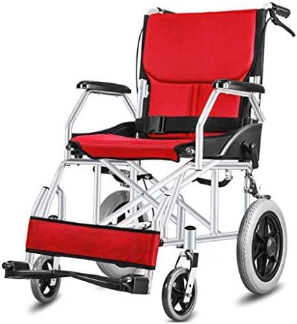 A-MUZI Leicht-Reise Kleine Rollstühle, Ältere Menschen Mit Behinderungen Drücken Sie Den Roller, Ältere Rollstühle...