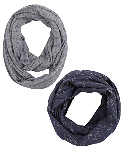 Baby Infant Kids Infinity Scarf - Soft Jersey Thin Lightweight Loop Scarfs For Newborn Girl Boy 1 Or 2 Year