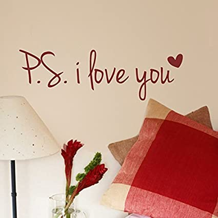 Amazon Larmai Wall Sticker For Kids Romantic Love Saying PS I Cool Love Quotes Kids
