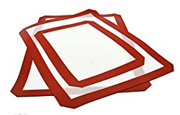 CookEasy Premium Silicone Baking Mats - Set of 3 - 2 Full Size Mats (16.5\
