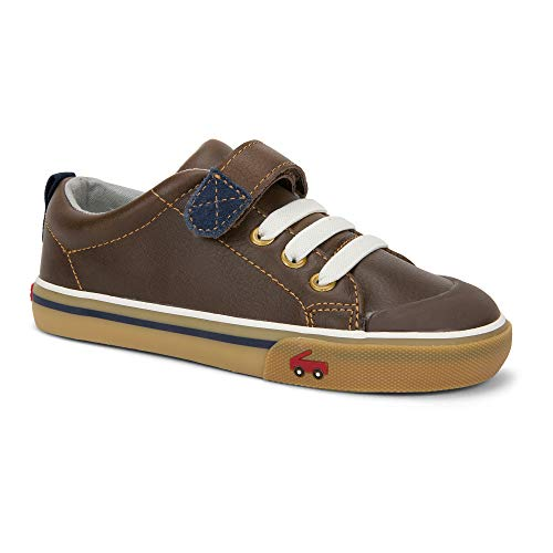 See Kai Run Boy's Stevie Ii Sneaker, Brown Leather, 11 M Little Kid