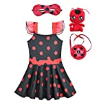 TT & Jessy Halloween Costumes Superhero Kids Ladybug Princess Halloween Costumes Superheroes for Girls
