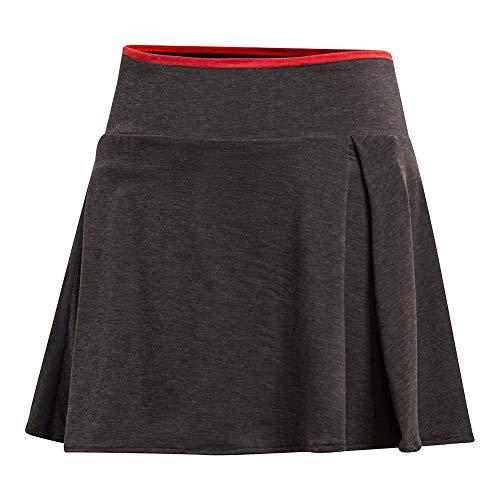 adidas Youth Tennis Barricade Skirt, Black/Heather, Small