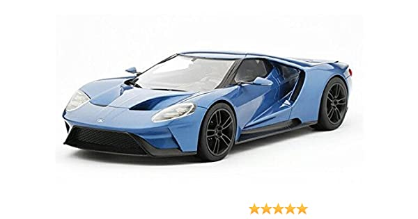 Amazon Com Ford Gt  Top Speed Artikle Number Ts Closed Body Resin Model Car Liquid Blue Toys Games