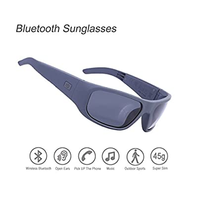 Bluetooth Sunglasses,Open Ear Wireless Sunglasses with Polarized UV400 Protection Safety Lenses,Unisex Design Sport Headset for All Editions of iPhone/Samsung and Smart Phone