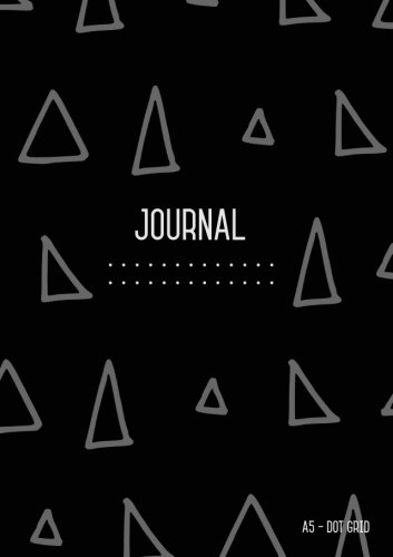 Read Online Dot Grid Journal A5: Black,  Journal Dotted to Write In, Doodling, Dot Matrix Notebook Blank, Cute , Medium, Softcover, Numbered Pages (A5 Journal Diary) pdf