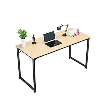 Tycholite Writing Computer Desk Modern Sturdy Office Desk PC Laptop Notebook Study Table for Home Office Workstation, Natural -  - writing-desks, living-room-furniture, living-room - 41U2BnmN8%2BL. SS400  -