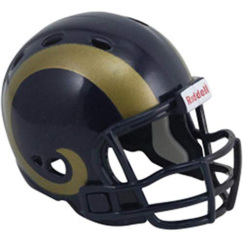 Riddell St Louis Rams Revolution Pocket Pro Collectible Helmet (St Louis Rams Replica Helmet)