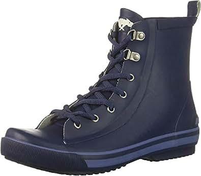 Rocket Dog Women's Rainy Rubber Rain Boot, Navy, 6 Medium US