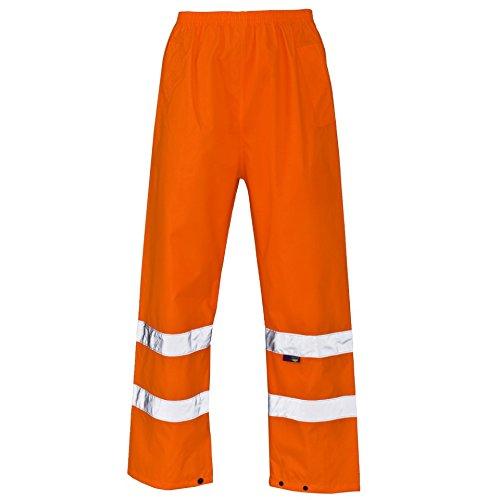Forever Mens Hi Viz Waterproof Rain Over Trousers High Vis Visibility Elasticated Pants