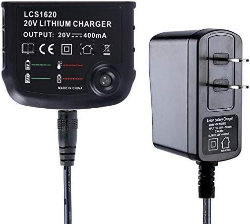 LCS1620 Charger 20V Lithium Battery For Black/&Decker LBX20 Part LBX4020 US B1I2