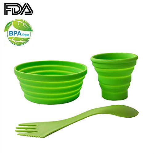Ecoart-Silicone-Collapsible-Bowl-Cup-Set-with-Spork-for-Outdoor-Camping-Hiking-Travel-Set-of-3
