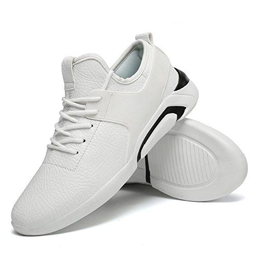 Hombre Deporte El Bajas Blanco atléticas y livianas Zapatillas Zapatillas está Altas Estilo británico Moda de Informal Deporte con de para de wXF5Iq