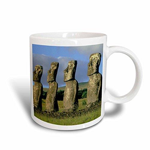3dRose (mug_85892_1) - Taza de cerámica, diseño de la isla de Pascua, Ahu Akivi, estatuas moai, SA05 KSC0009, Kevin Schafer