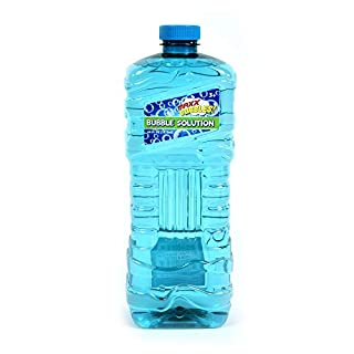 Sunny Days Entertainment Maxx Bubbles 64 oz Bubble Solution – Easy Grip Bottle for Kids | Refill Toy Bubble Machines | Outdoor Summer Fun - Bottle Colors May Vary (101797)