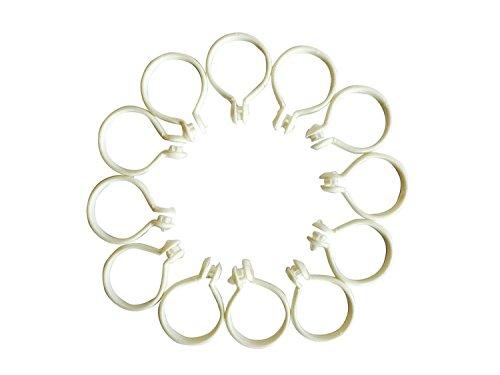 BuyHere Curtain Drapery Platics Rings, Pack of 12pcs