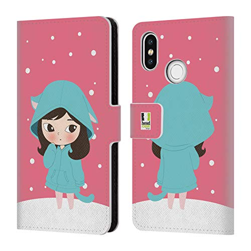 Head Case Designs Ava Winter Hoodies Leather Book Wallet Case Cover for Xiaomi Mi 8 (Hoody Purse)
