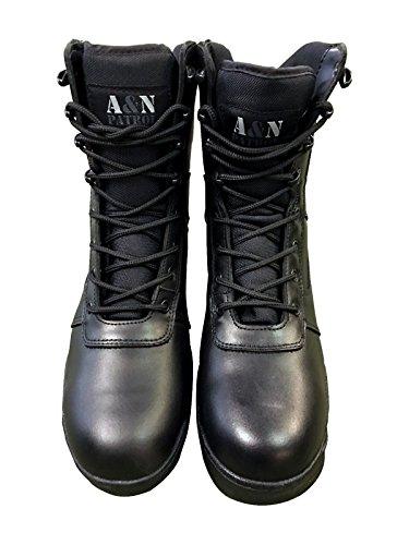 uomo Black nero Stivali amp;N A qw6xC86E
