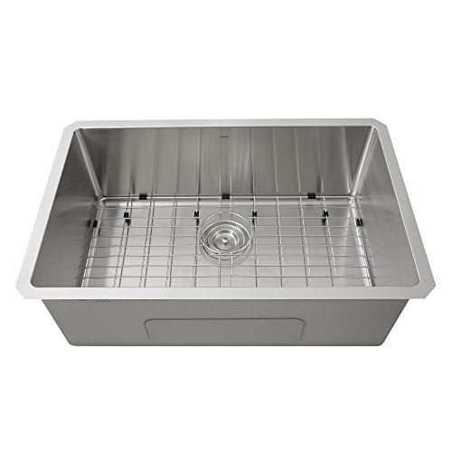 Nantucket Sinks SR3018 30-Inch Small Radius Rectangle Stainl