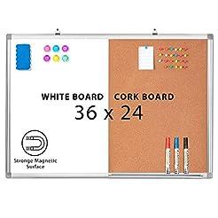 Combination Whiteboard Bulletin Cork Boa...