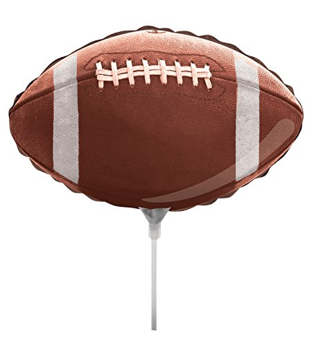 Creative Converting Air-Filled Football Shaped Balloon with Stick and Joiner, 18