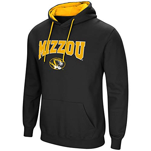 Colosseum NCAA Men's-Cold Streak-Hoody Pullover Sweatshirt with Tackle Twill-Missouri