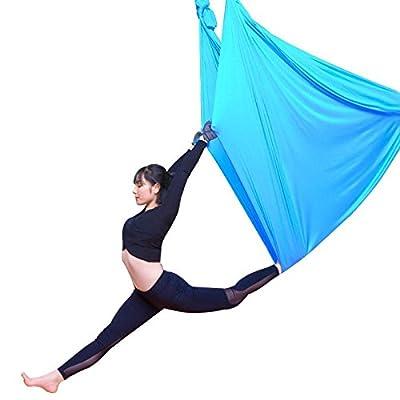 Alger Hamac de yoga aérien haute altitude Accueil Yoga Micro élastique Stretch sangle Sling Yoga Stretch band Yoga , 4m , sky blue