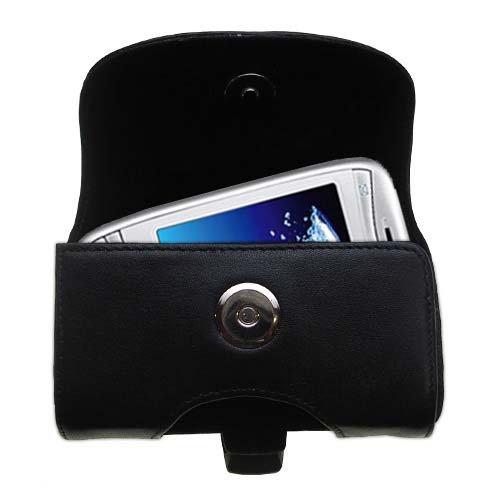 Designer Gomadic Black Leather O2 XDA Mini S Belt Carrying Case - Includes Optional Belt Loop and Removable ()