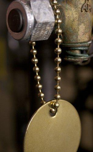 CH Hanson Marking Tags 40097 4.5'' Brass pltd beaded chain 100pk