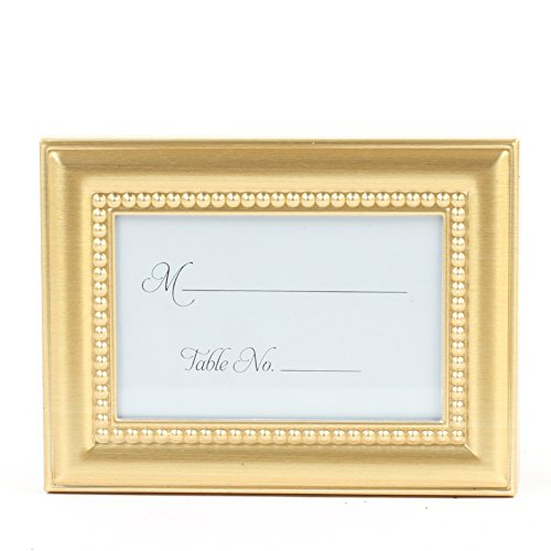 Koyal Wholesale 24-Pack Beaded Frame Placecard Favor, Gold
