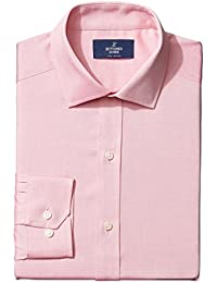 Buttoned Down Men's Fitted Spread-Collar Solid Non-Iron Dress Shirt