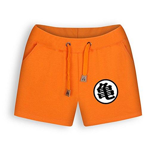 NSOKing Womens Dragon Ball Z Orange Color Costume Pants Summer Shorts (X-Large, Womens-GUI)