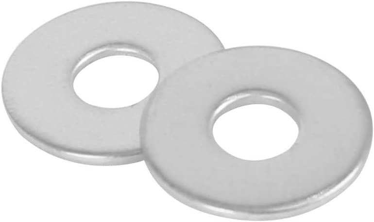 X AUTOHAUX M5 x 15mm x 1mm Stainless Steel Flat Washer Car Fastener Sealing Gaskets 110pcs