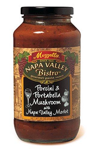 Mezzetta Napa Valley Bistro Pasta Sauce, Mushroom & Porcini, 25-Ounce Jars (Pack of 6) Porcini Pasta Sauce