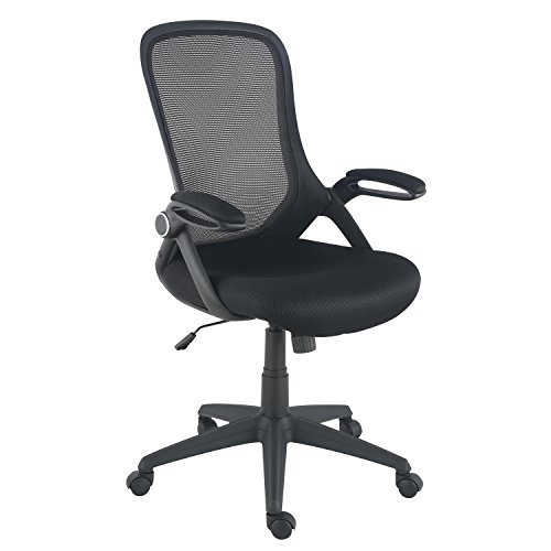 POLY & BARK EM-369-BLK Sadia Office Chair in Mesh, Black