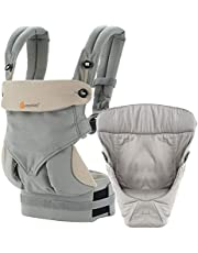 Ergobaby 360 Bundle of Joy with Easy Snug Infant Insert, Grey