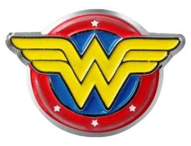 Giant Lapel Pin - DC Comics Wonder Woman Logo Colored Pewter Lapel Pin