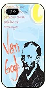 iPhone 5 / 5s Vincent Van Gogh Quotes - There is no blue without yellow and without orange - black plastic case / Inspirational and Motivational