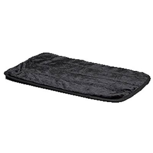 "MidWest Quiet Time Pet Bed Deluxe Black Fur Pet Mat 49"" x 30"