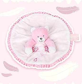 Sun Glower Marioneta de Mano del bebé Consolador Juguetes Toalla de Mano Redonda Suave Osito de Peluche Corto Toy_Pink: Amazon.es: Juguetes y juegos