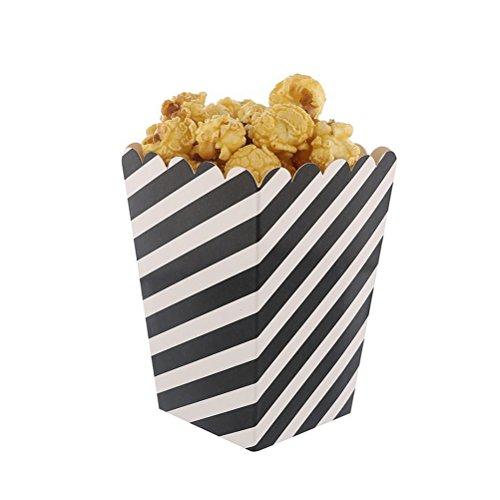 Compleanno Stripe 36pcs Bambini Verde Di Forniture Rosso E Sacchetti Contenitori Caramelle Carta Popcorn Scatole Per Toyvian Feste nero CP5qq