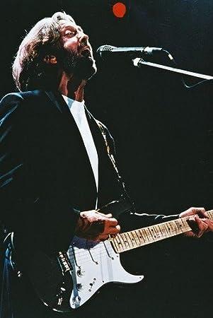 Nostalgia Store Póster de Eric Clapton con Guitarra en Concierto (60 x 91 cm)